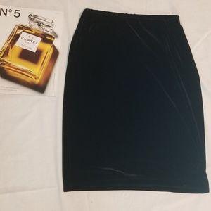 Ann Taylor black velvet pencil skirt